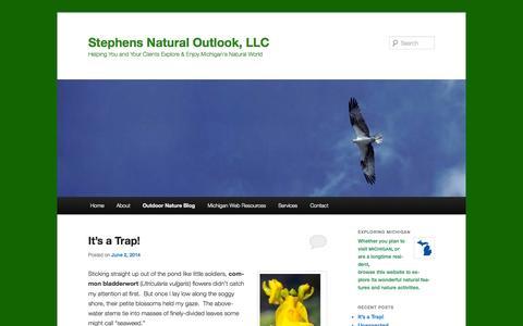Screenshot of Blog stephensnaturaloutlook.com - Stephens Natural Outlook, LLC, Outdoor Nature Environmental Blog | Stephens Natural Outlook, LLC - captured Oct. 7, 2014