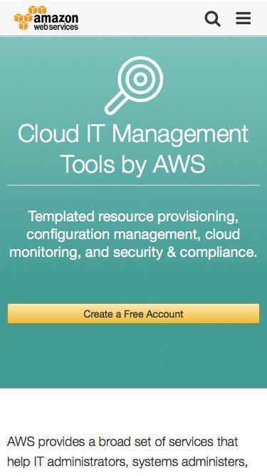 Screenshot of Team Page  amazon.com - IT Managment Tools – Amazon Web Services (AWS)