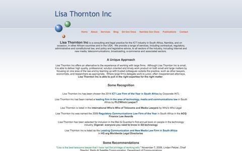 Screenshot of About Page thornton.co.za - Lisa Thornton Inc - captured Jan. 30, 2016