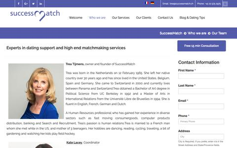 Screenshot of Team Page successmatch.ch - Experts for personalized, quality and confidential dating services in Switzerland - captured Dec. 9, 2018