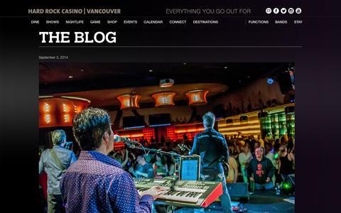 Screenshot of Blog hardrockcasinovancouver.com - blog - Hard Rock Casino Vancouver : Hard Rock Casino Vancouver - captured Oct. 28, 2014