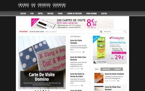 Screenshot of Home Page carte-de-visite-design.com - Carte de visite design - création et modèle de cartes de visite professionnelle ou gratuite - captured June 7, 2016