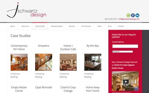 Screenshot of Case Studies Page jschwartzdesign.net - Case Studies — J. Schwartz Design - captured July 8, 2016