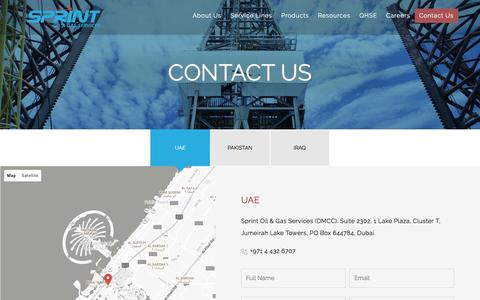 Screenshot of Contact Page sprint-og.com - Contact Us - captured Dec. 1, 2016