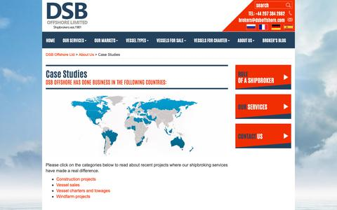 Screenshot of Case Studies Page dsboffshore.com - Case Studies - DSB Offshore Ltd - captured Oct. 7, 2018