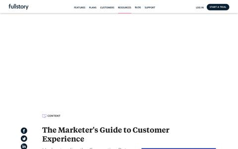Screenshot of Case Studies Page fullstory.com - The Marketer's Guide to Customer Experience - captured Feb. 5, 2020