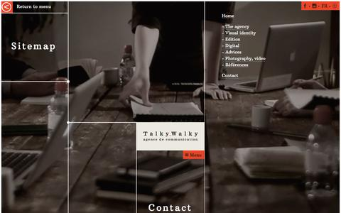 Screenshot of Site Map Page talkywalky.com - Sitemap | Agence de communication Talky Walky - captured Dec. 10, 2016