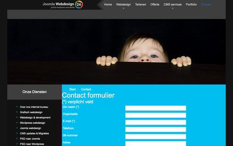 Screenshot of Contact Page joomlawebdesign24.nl - Contact - captured Oct. 1, 2018