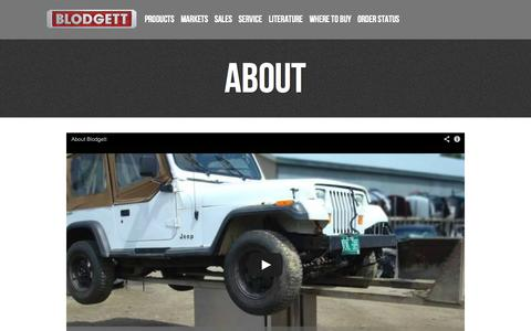 Screenshot of About Page blodgett.com - Blodgett Oven  » About - captured Sept. 24, 2014