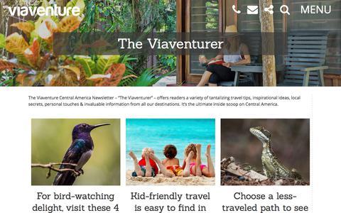 Screenshot of Blog viaventure.com - The Viaventurer - Viaventure - captured Sept. 21, 2018
