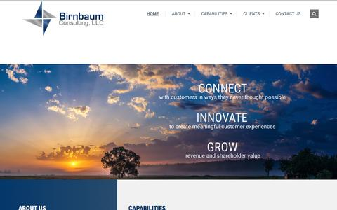 Screenshot of Home Page birnbaumconsulting.com - Birnbaum Consulting - Your One-Stop For All Your Marketing Needs - captured Oct. 10, 2017