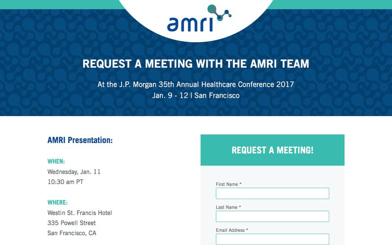 Request a Meeting with the AMRI Team
