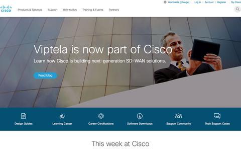 Screenshot of Home Page cisco.com - Cisco - Global Home Page - captured Aug. 5, 2017