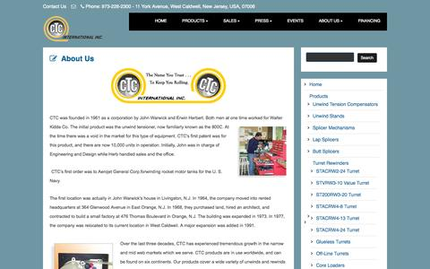 Screenshot of About Page ctcint.com - About Us   CTC International - captured Oct. 1, 2014