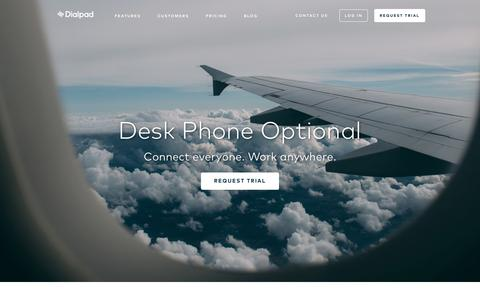 Screenshot of Home Page dialpad.com - Business Phone System for the Modern Workplace | Dialpad - captured June 26, 2016