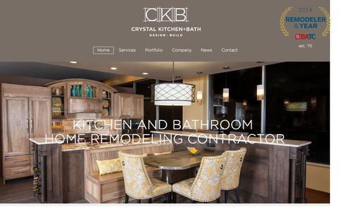 Screenshot of Home Page crystalkitchen.com - Remodeling Contractor Minneapolis MN | Kitchen Bathroom Home Remodeler - captured Nov. 14, 2016