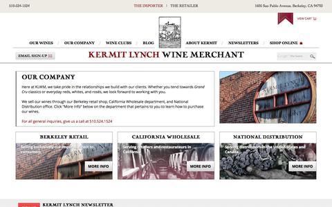 Our Company | Kermit Lynch Wine Merchant