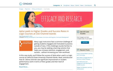 Screenshot of Case Studies Page cengage.com - Case Studies Archives - Page 4 of 4 - Cengage Blog - captured Aug. 4, 2017