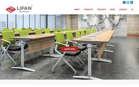 Screenshot of Home Page lifanfurniture.com - Lifan Office Furniture - Cinema and Auditorium Seating Manufacturer - captured July 19, 2018