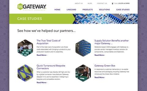 Screenshot of Case Studies Page gatewaycando.com - Gateway  · Case Studies - captured Oct. 2, 2014