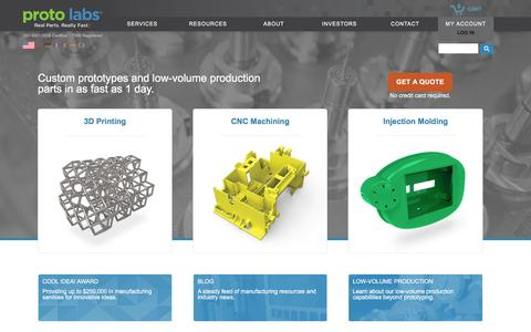 Proto Labs. Fastest Provider of CNC Machined & Injection Molded Parts