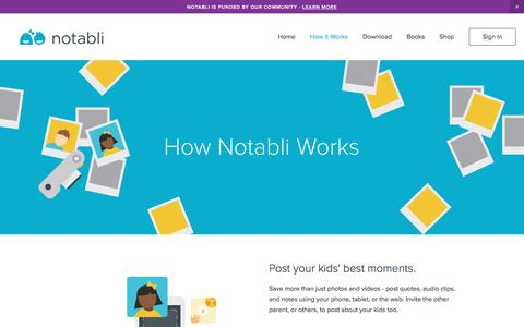 Screenshot of Pricing Page notabli.com - Notabli - Childhood Scrapbook | Baby Book | Private Network - captured Dec. 16, 2016