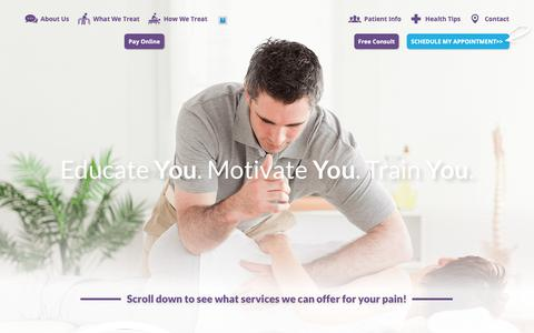 Screenshot of Home Page premiertherapycenters.com - Physical Therapy Commerce & West Bloomfield, MI - PT - captured Sept. 29, 2018