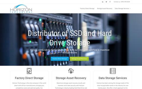 Screenshot of Home Page horizontechnology.com - Horizon Technology | Horizon Technology Authorized Hard Drive & LCD Distributor - captured May 21, 2017