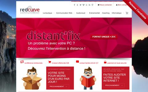 Screenshot of Home Page redcurve-communication.fr - Red Curve Communication - Agence de communication Toulouse - captured Sept. 30, 2014