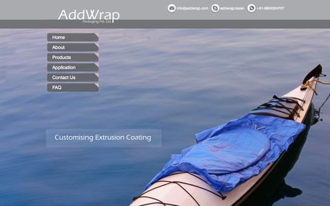 Screenshot of Home Page addwrap.com - Addwrap - captured July 16, 2015