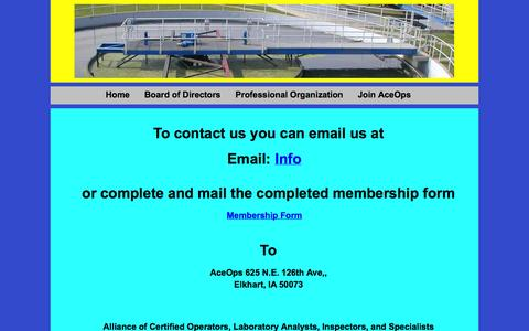 Screenshot of Contact Page aceops.org - Contact Page - captured Sept. 30, 2014