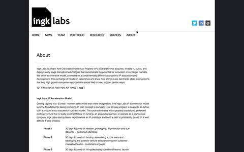 Screenshot of About Page ingk.com - About | Ingk Labs - captured Sept. 16, 2014