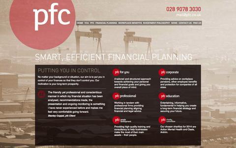 Screenshot of Home Page pfc.co.uk - PFC - captured Oct. 1, 2014