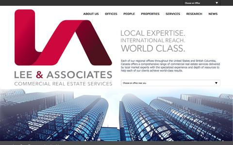 Screenshot of Home Page lee-associates.com - Home - Lee & Associates - captured May 19, 2017
