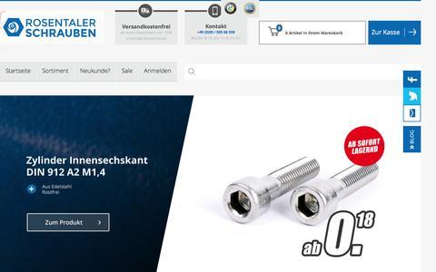 Screenshot of Home Page rosentaler-schrauben.de - Rosentaler Schrauben Online Shop - captured April 3, 2017