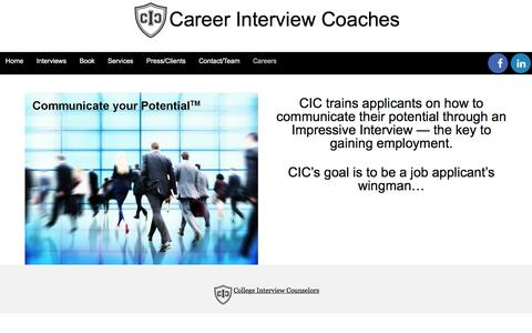Screenshot of Jobs Page collegeinterviewcounselors.com - Careers - College Interview Counselors - captured Nov. 9, 2016
