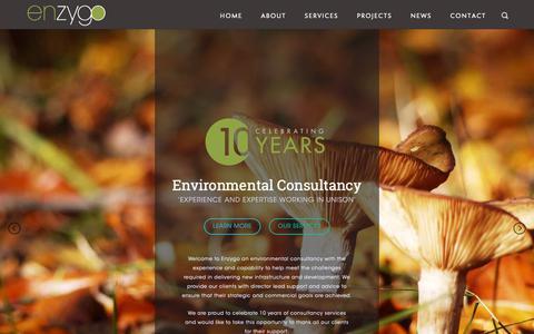 Screenshot of Home Page enzygo.com - ENZYGO - An Environmental Consultancy : Enzygo - captured Sept. 28, 2018