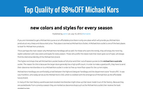 Screenshot of Home Page answerwireless.net - Top Quality of 68%OFF Michael Kors Bags Australia Outlet Sale - captured Feb. 4, 2016