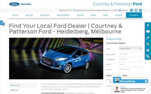 Screenshot of Hours Page cpford.com.au - Contact Us - Courtney & Patterson Ford - captured Sept. 29, 2018