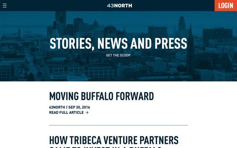 Screenshot of Press Page 43north.org - News – 43North - captured Sept. 30, 2016