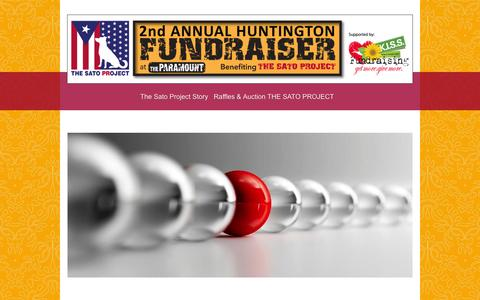 Screenshot of Site Map Page kissfundraising.com - KISS - The Sato Project Story - captured Feb. 12, 2016