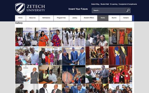 Screenshot of Press Page zetech.ac.ke - Media - Zetech University - captured Nov. 23, 2015