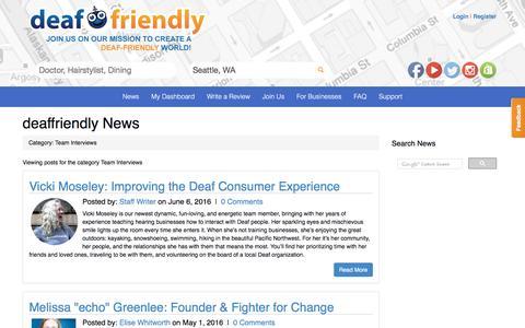 Screenshot of Team Page deaffriendly.com - deaffriendly |  deaffriendly News - captured Aug. 3, 2016