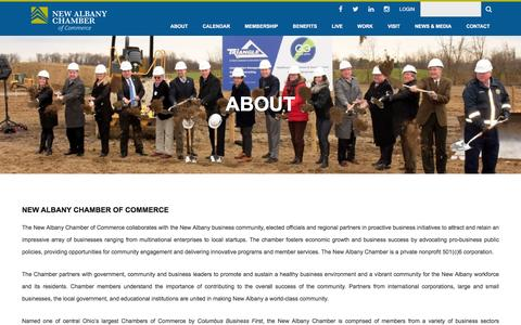 Screenshot of About Page newalbanychamber.com - About   New Albany Chamber of Commerce - captured Nov. 29, 2016