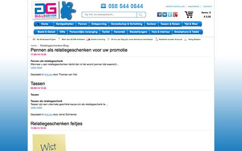 Screenshot of Blog gullegever.nl - Relatiegeschenken Blog - captured Oct. 3, 2014