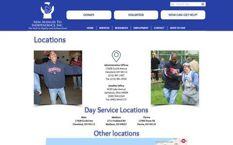 Screenshot of Locations Page newavenues.net - newavenues   Locations - captured Nov. 16, 2018