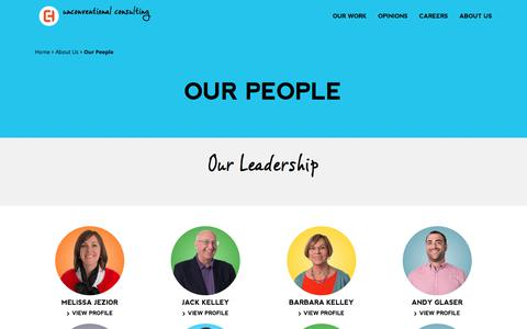 Screenshot of Team Page eaglehillconsulting.com - Our People | Eagle Hill Consulting - captured Jan. 8, 2018