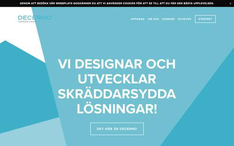 Screenshot of Home Page decerno.se - Decerno - captured Sept. 21, 2018