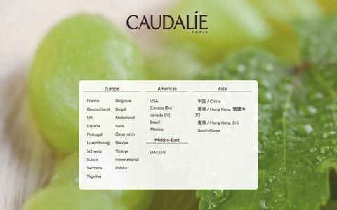 Screenshot of Home Page caudalie.com - Caudalie: Natural Cosmetic Treatments, Beauty Products and natural treatments - Caudalie - captured Aug. 6, 2019