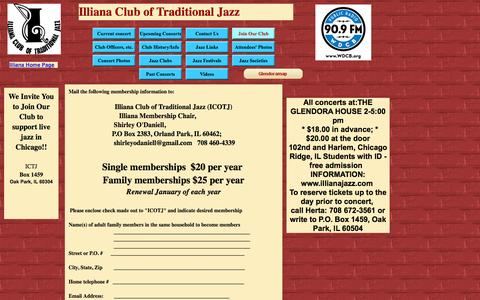 Screenshot of Signup Page illianajazz.com - join - captured May 24, 2016